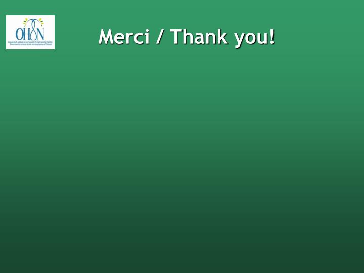 Merci / Thank you!
