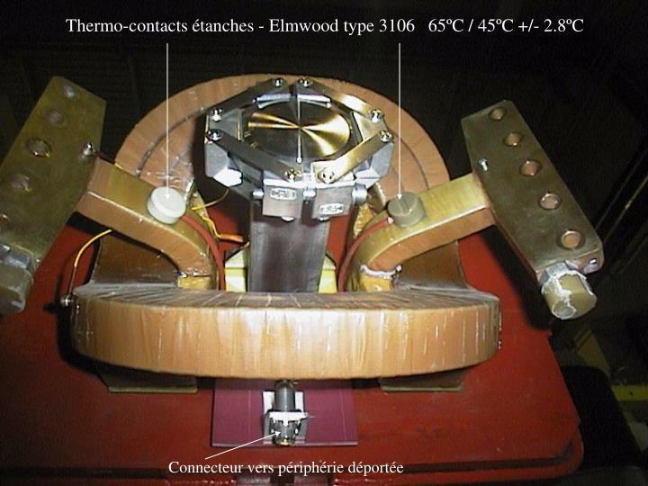 Thermo-contacts étanches - Elmwood type 3106   65ºC / 45ºC +/- 2.8ºC