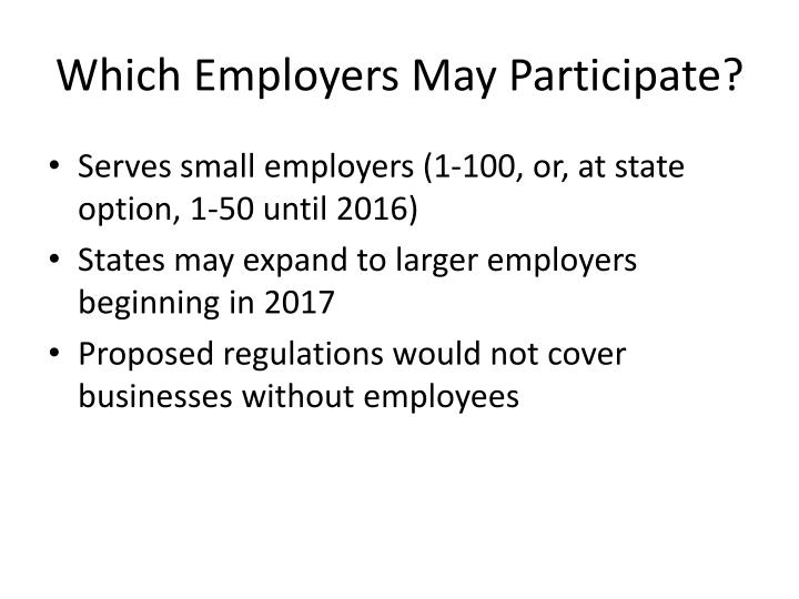 Which Employers May Participate?