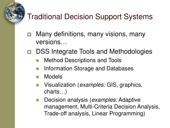 Traditional Decision Support Systems