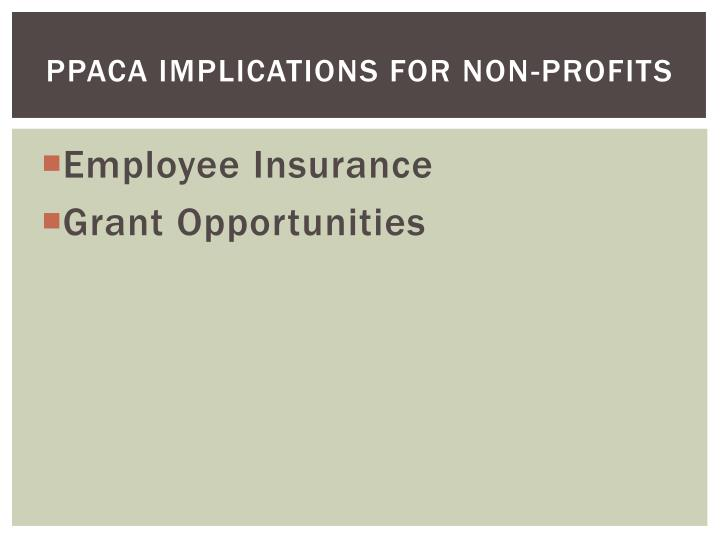 PPACA Implications for non-profits