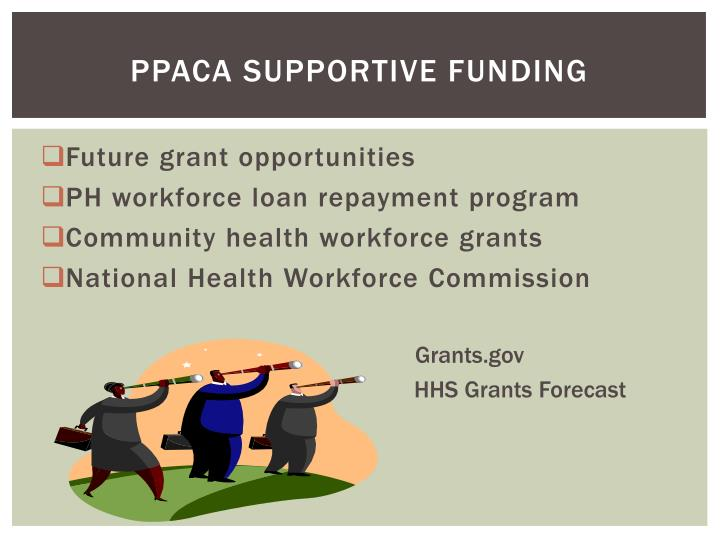 PPACA Supportive Funding