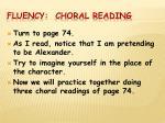 fluency choral reading