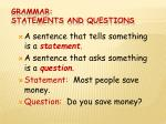 grammar statements and questions1
