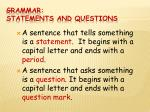 grammar statements and questions3