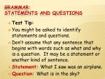 grammar statements and questions5