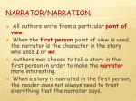 narrator narration