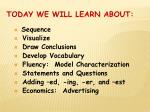 today we will learn about2