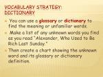 vocabulary strategy dictionary