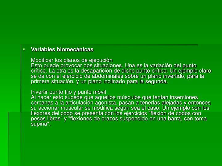 Variables biomecánicas