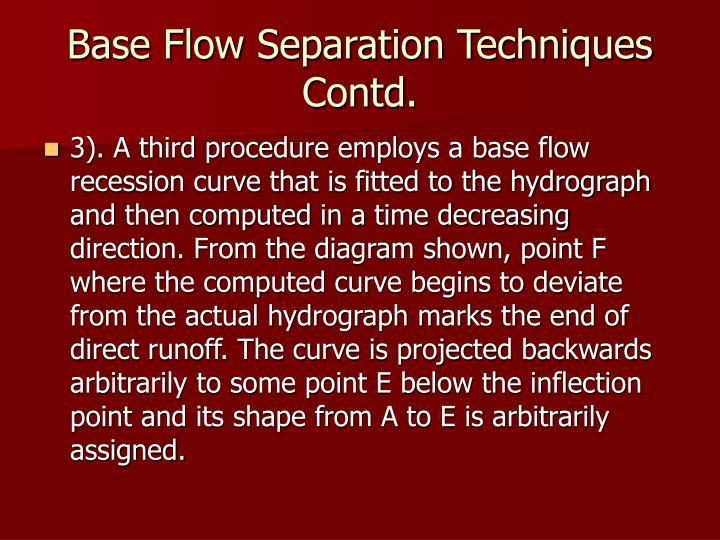 Base Flow Separation Techniques Contd.