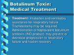 botulinum toxin medical treatment