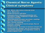 chemical nerve agents clinical symptoms