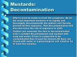 mustards decontamination