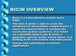 ricin overview