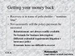 getting your money back
