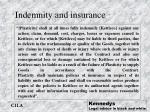 indemnity and insurance
