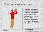 the sales director s report