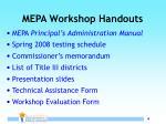 mepa workshop handouts