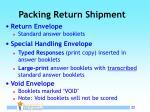 packing return shipment
