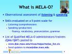 what is mela o