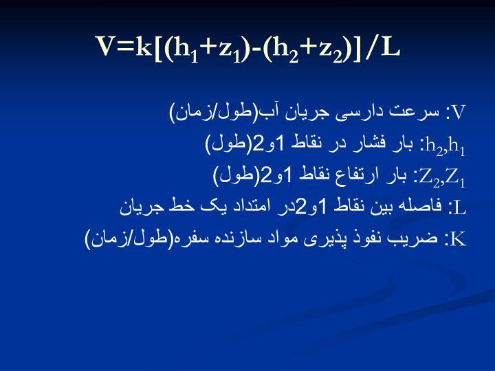 V=k[(h