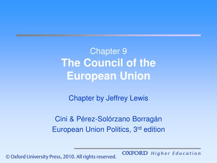 chapter 9 the council of the european union n.
