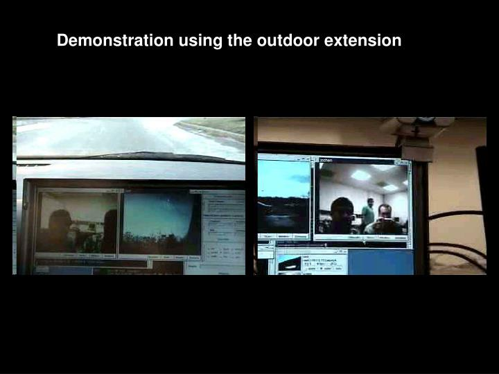 Demonstration using the outdoor extension