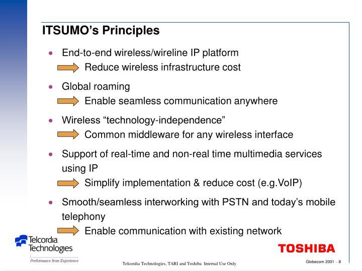 ITSUMO's Principles