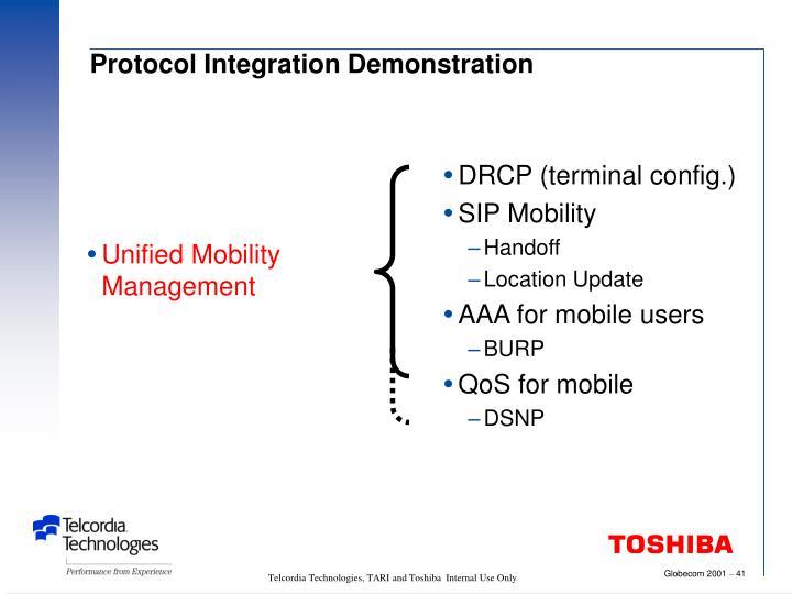 Protocol Integration Demonstration