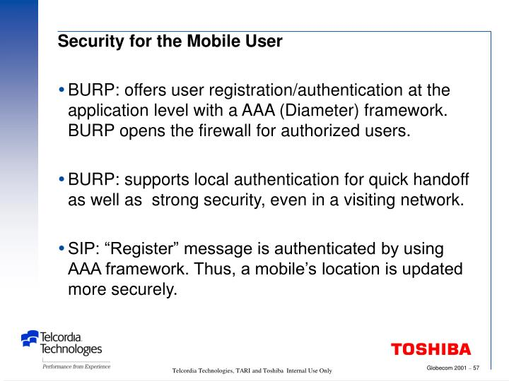 Security for the Mobile User