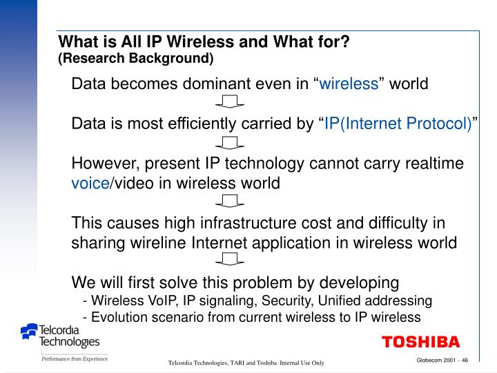 What is All IP Wireless and What for?