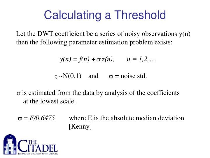 Calculating a Threshold