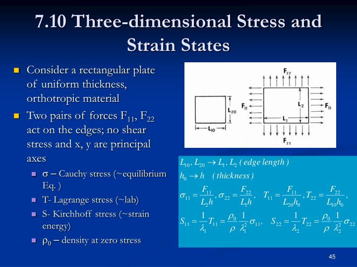 7.10 Three-dimensional Stress and Strain States