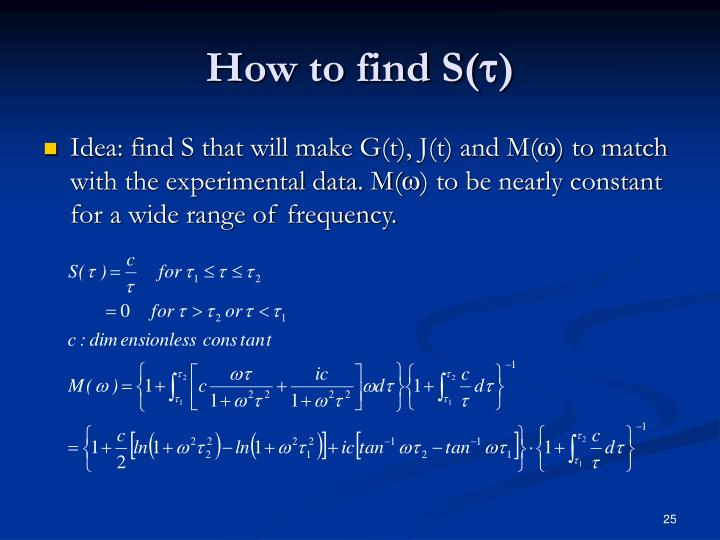 How to find S(