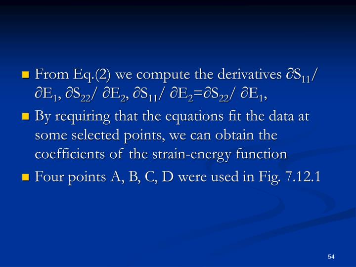 From Eq.(2) we compute the derivatives ∂S
