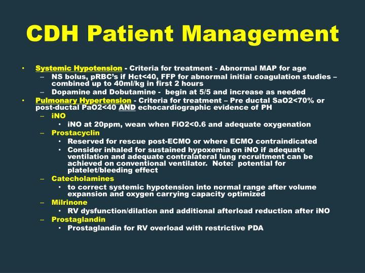 CDH Patient Management