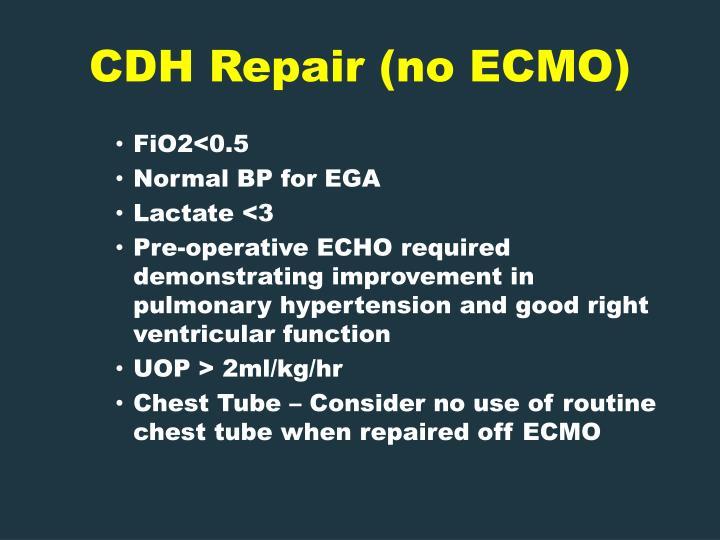 CDH Repair (no ECMO)