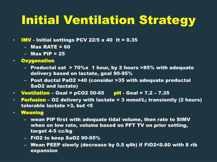 Initial Ventilation Strategy