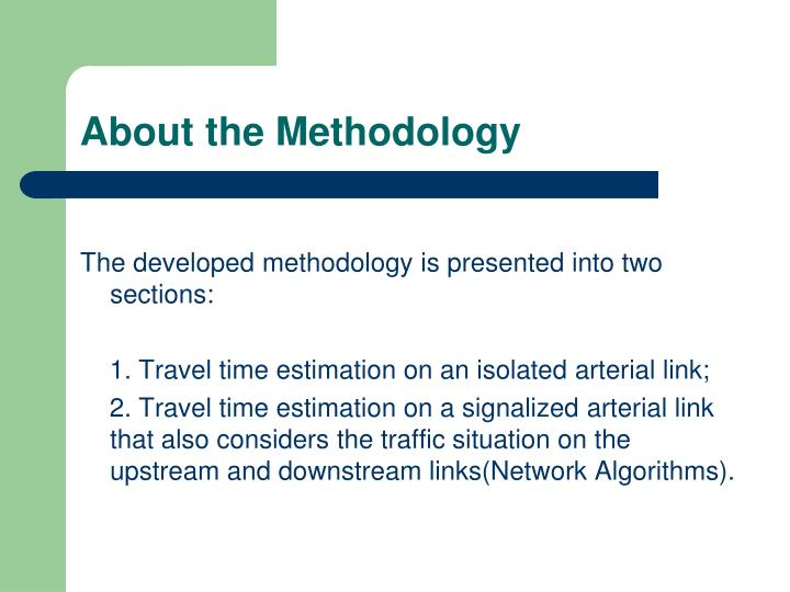 About the Methodology