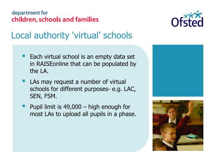 Local authority 'virtual' schools