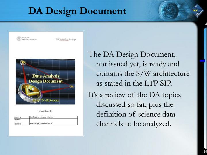 DA Design Document
