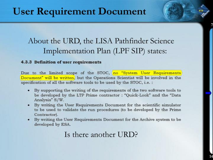 User Requirement Document