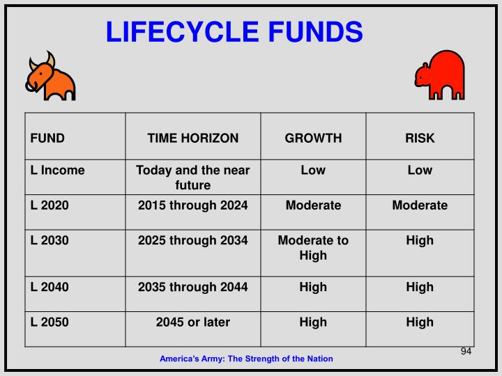 LIFECYCLE FUNDS