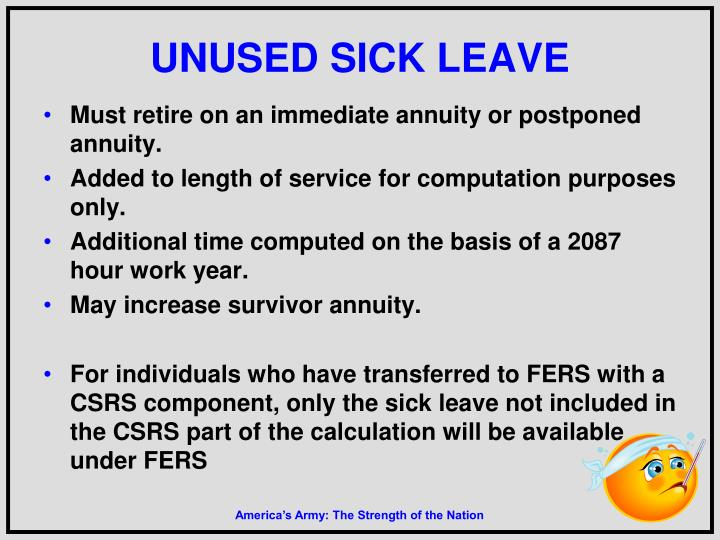 UNUSED SICK LEAVE