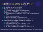 elective cesarean and mtct