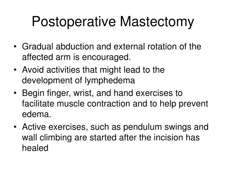 Postoperative Mastectomy