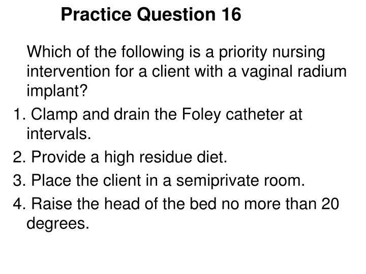 Practice Question 16