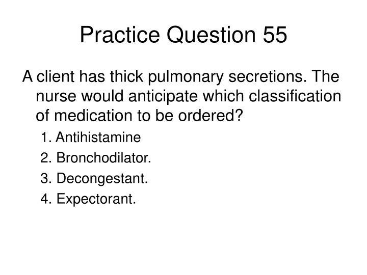 Practice Question 55