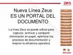 nueva l nea zeus es un portal del documento